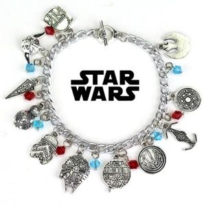 New! Women's Disney Star Wars Charm Bracelet